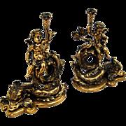 7615 Bronze Figural Andirons