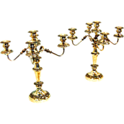7633 Pair of Silver Candelabras