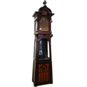 7643 French Art Nouveau Transitional Clock stamped 1890 with German Regina Music Box