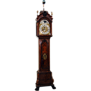 7645 19th C. Dutch Long Case Grandfather Clock