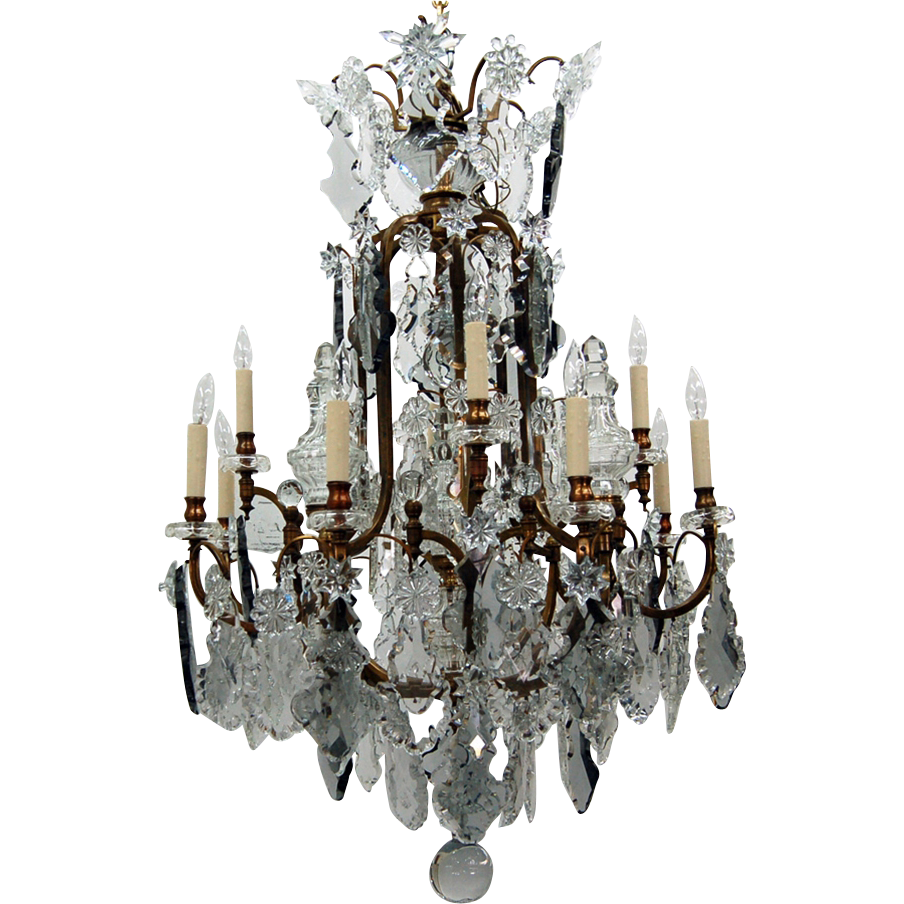 7652 19th C. Crystal Chandelier