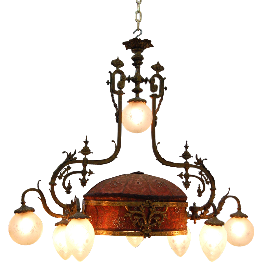 7654 19th C. French Rococo Chandelier