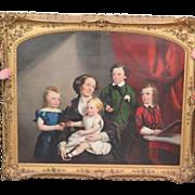 William R. Hamilton Family Portrait c. 1854