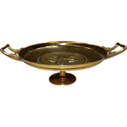 7690 19th C. French Bronze Tazza Signed F. Levillain