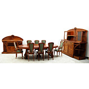 7694 French Art Nouveau Louis Majorelle Signed 11-Piece Dining Set