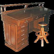 7702 American Oak Architect's Desk c. 1890
