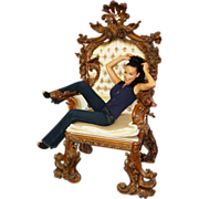 7711 French Rococo Throne Chair