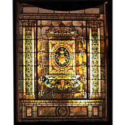 7713 8-Foot Tall Stained Glass by Tiffany Studios
