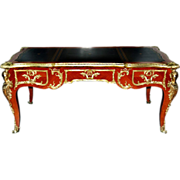 7718 French Rosewood Bureau Plat Desk c. 1890
