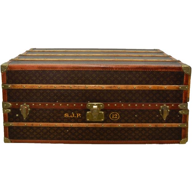 7733 Louis Vuitton Vintage Authentic Monogram Steamer Trunk-RARE and COMPLETE