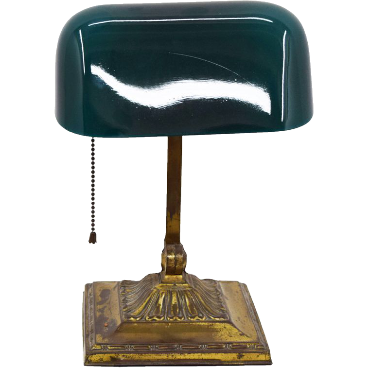 7739 Antique EMERALITE No. 8734 Desk Banker Library Table Double-Knuckle Lamp
