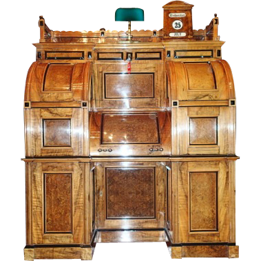 7740 Very RARE and Important Moore Combination Secretary desk, c. 1878, SUPERIOR GRADE