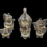 7764 6-Piece Heritage Silver Plate Tea Set, Stamped Heritage 1847 Rogers Bros