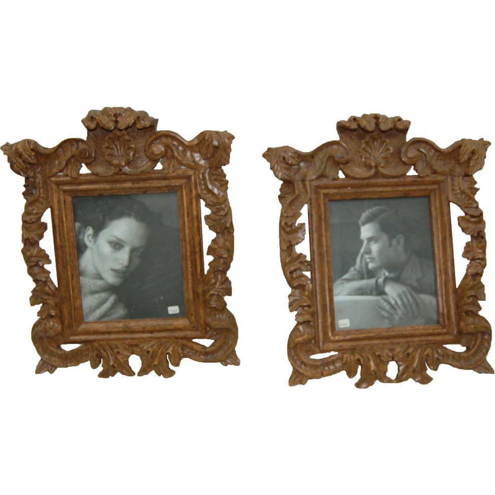 7765 Oak Picture Frames, Heavily Carved