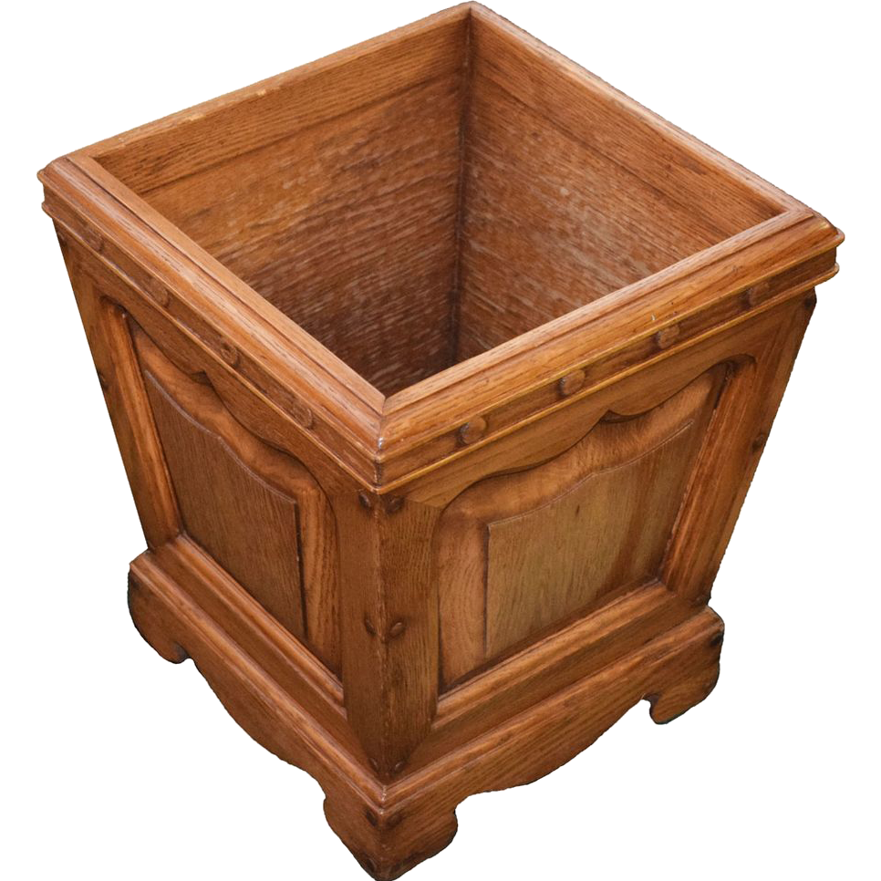7768D American Oak Waste Container with Raised Panels