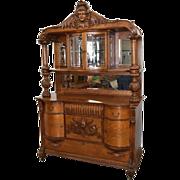 7797 19th century American Oak Sideboard by RJ Horner