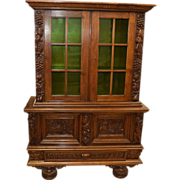 7800 Antique American Oak Cabinet/ Bookcase