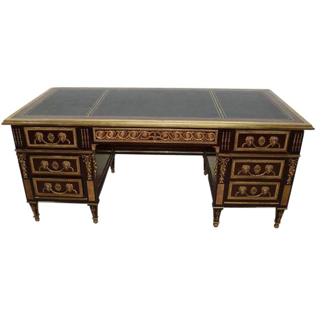 7819 French Mahogany Desk
