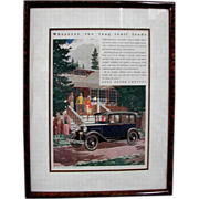 8454 1930's Framed Auto Print Advertisements