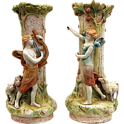 2837 Pair of Antique Ceramic Vases