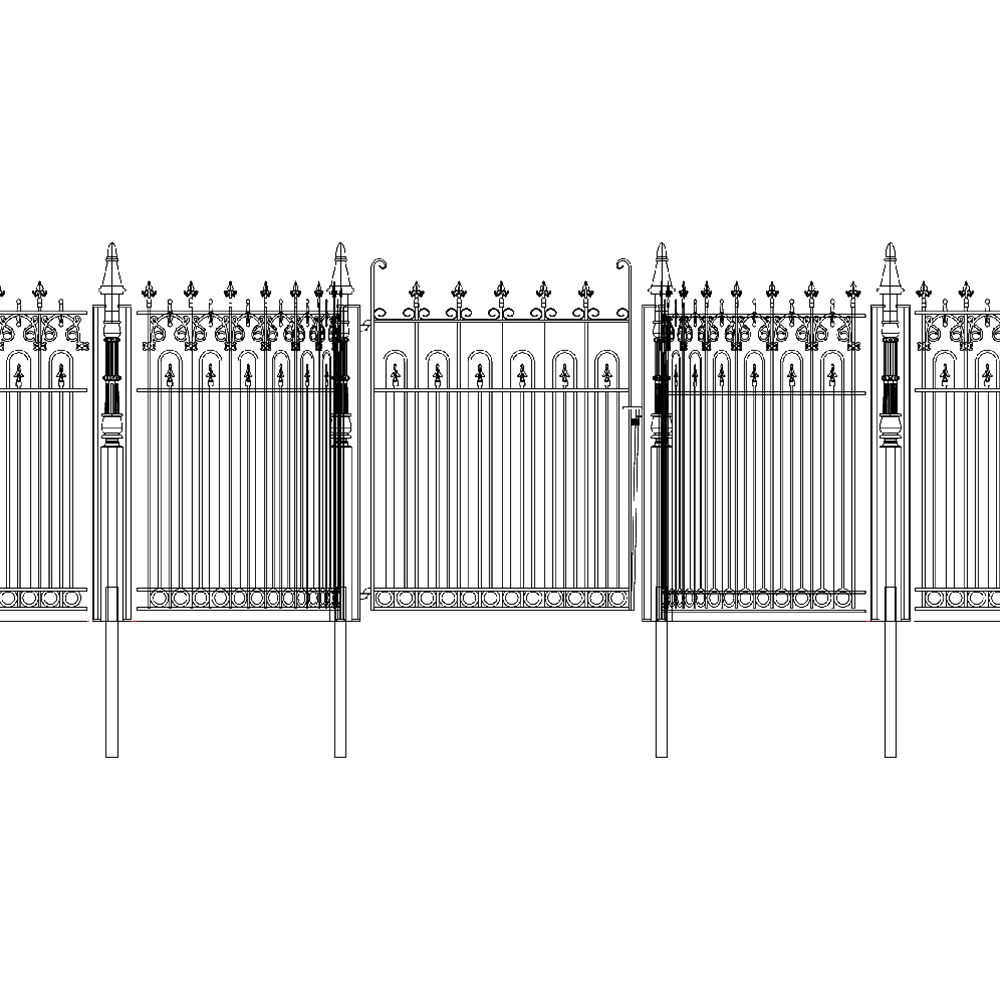 9177 Cast Iron Entry Gate & Fencing