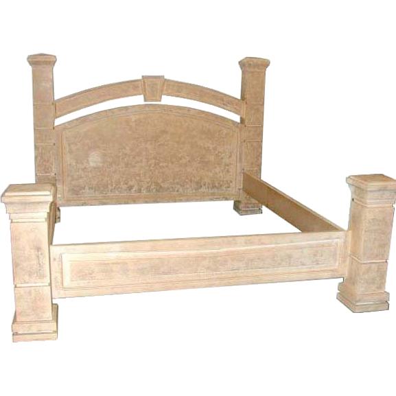 ES001 Bleached Wood Bedset w/California Kingsize Bed