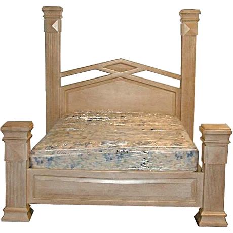 ES002 Bleached Wood Bedset w/Kingsize Bed