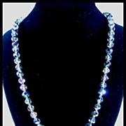 Gray Aurora Borealis Crystal Necklace