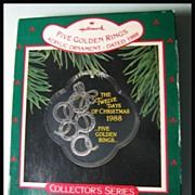 Hallmark Twelve Days of Christmas Series - Five Golden Rings