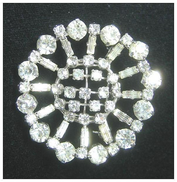 Bright and Beautiful Rhinestone  Pin Made in Austria