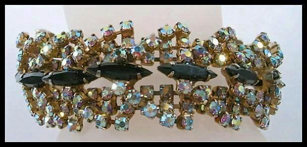 Glorious and Glitzy Rhinestone  Aurora Borealis Bracelet
