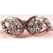 Gorgeous Clamper Bracelet with Rhinestones