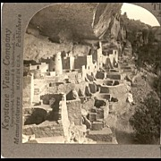 Mesa Verde Colorado - Keystone Stereo View
