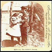 The Soldier's Return - Keystone Stereo View