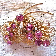 Pretty Pink Rhinestone Pin