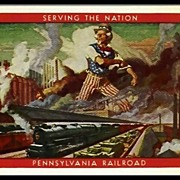 Pennsylvania Railroad Cards with Uncle Sam