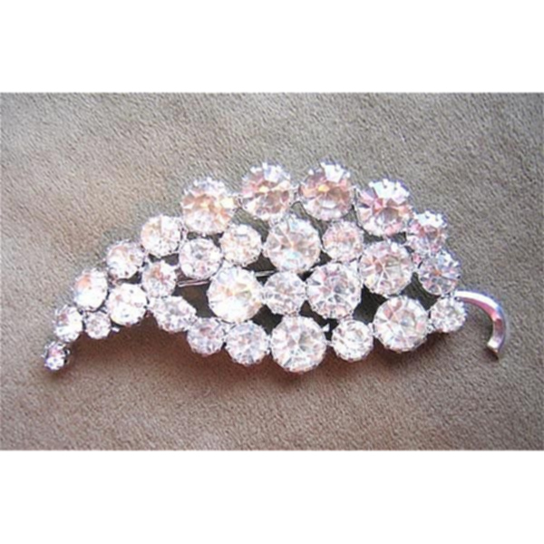 Comet Shaped Clear Rhinestone Pin