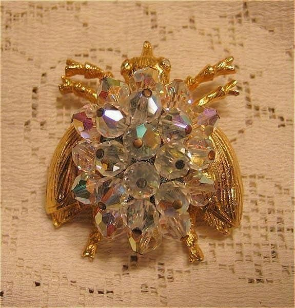 Delightful Bug Pin with Crystals