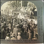 Stereo View of Mardi Gras Parade