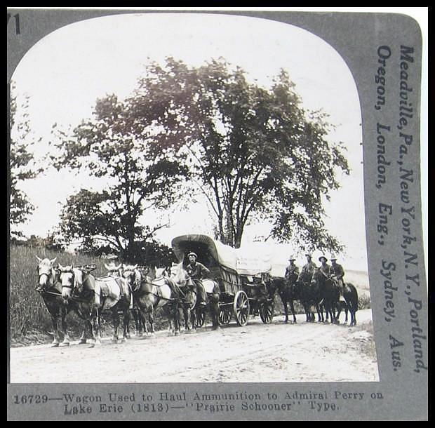 Wagon Used to Haul Ammunition - Keystone Stereo View