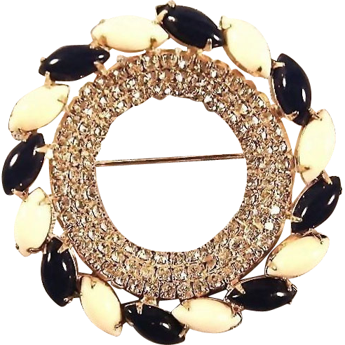 Hattie Carnegie Pin / Bold Beautiful Brooch / Vintage Costume Jewelry / Spectacular Hattie Carnegie
