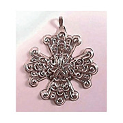 Reed & Barton 1974 Sterling Christmas Cross Ornament Necklace