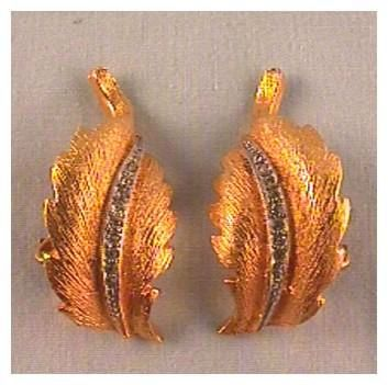Carnegie Gold-tone and Rhinestone Clip Earrings