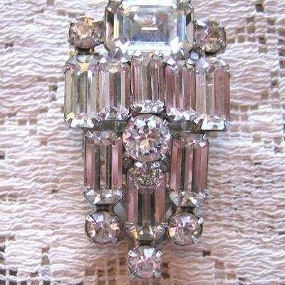 Brilliantly Beautiful WEISS Rhinestone Dress Clip