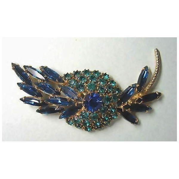 Juliana Pin with Stunning Blue and Green Stones