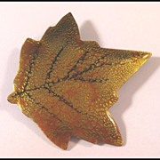 Enamelled Leaf Pin