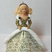 Hallmark Holiday Barbie 1994 Christmas Ornament