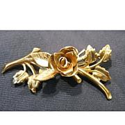 Elegant Coro Pegasus Rose Pin