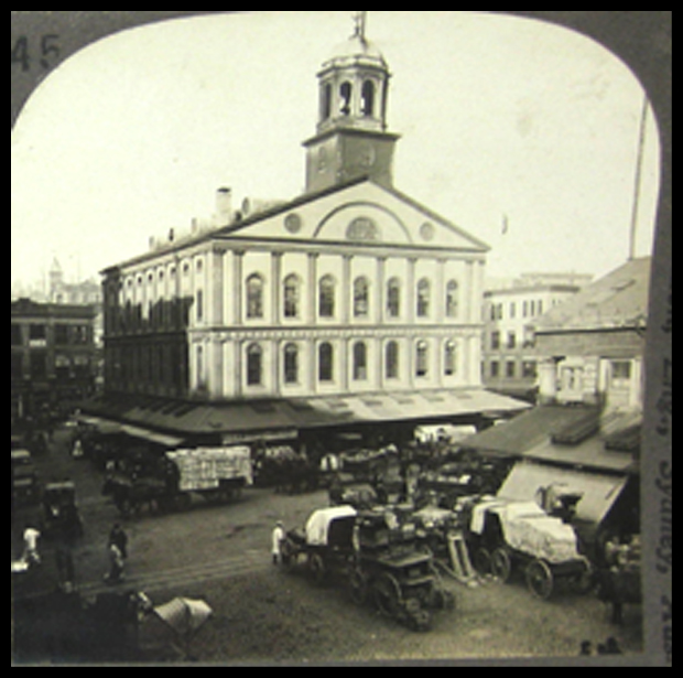 Faneull Hall Boston Mass - Keystone Stereo View