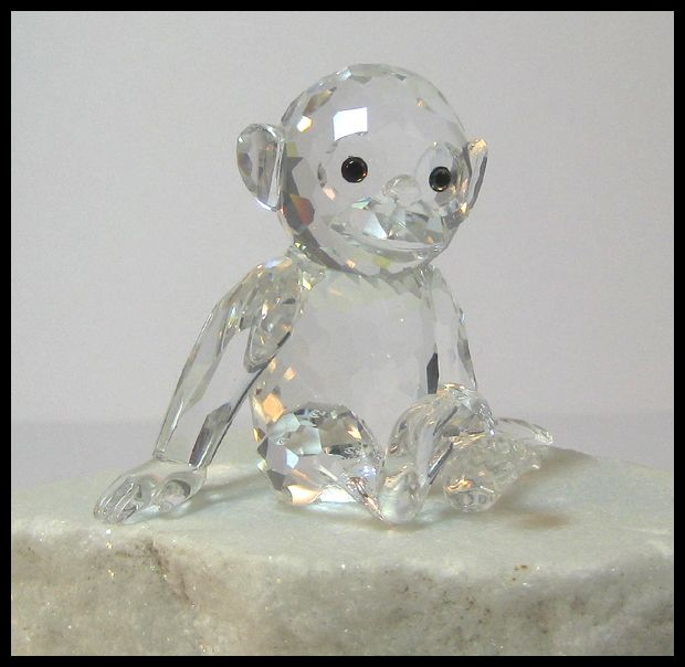 Swarovski Crystal Large Chimpanzee Figure